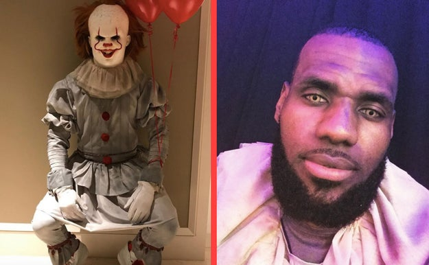 LeBron goes hard when it comes to Halloween costumes. Throughout the years he's dressed up as everyone from Pennywise, to Prince, and Danny Zuko.
