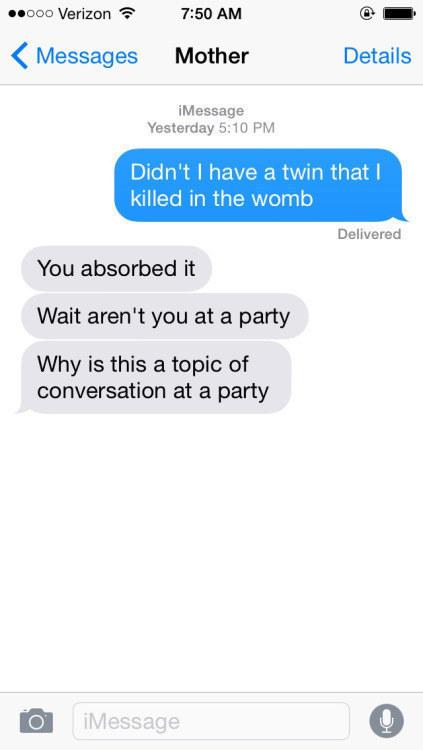 This is peak party talk: