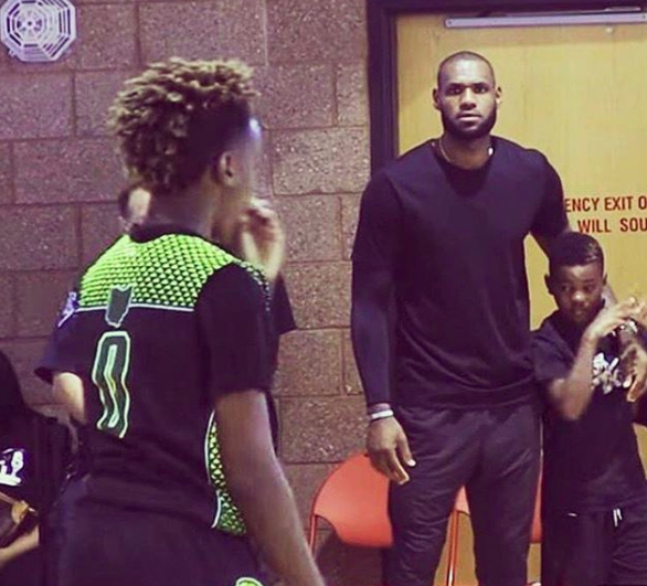 LeBron turns into a passionate fan like the rest of us when watching his sons play.