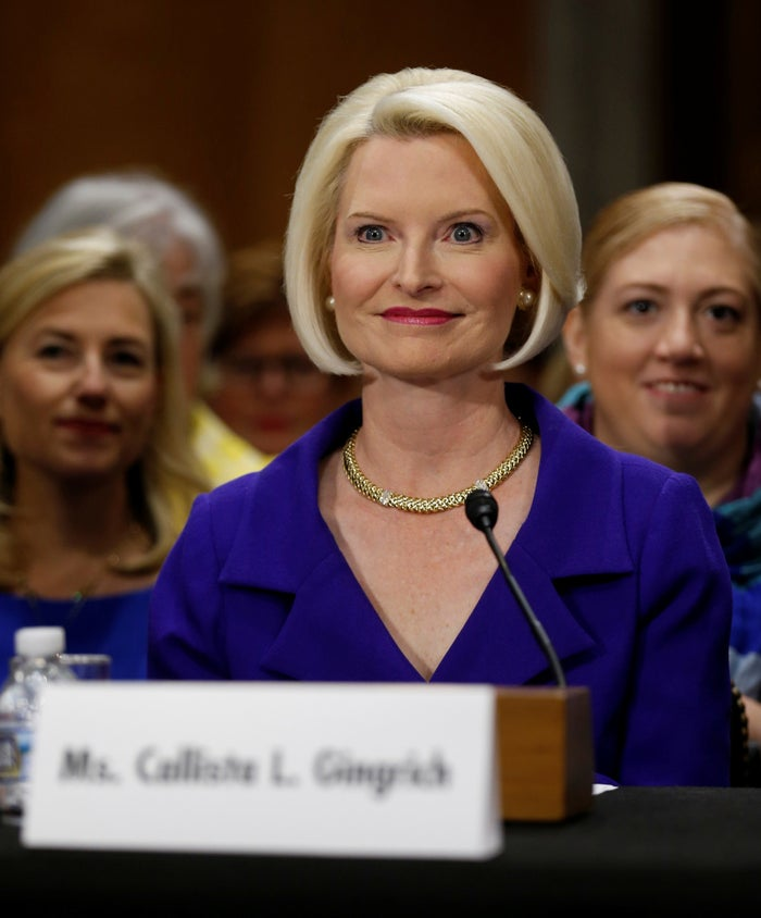 Callista Gingrich, Trump's pick to be US ambassador to the Vatican.