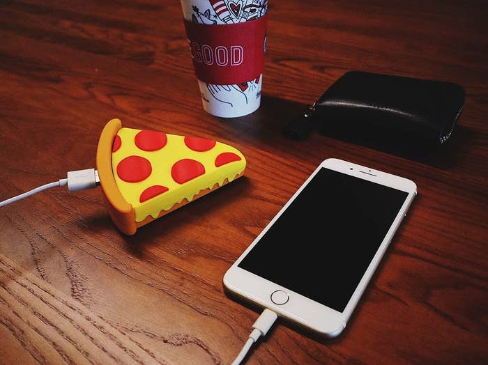 """Get it from Amazon for $15.99 (also available in poop and unicorn shapes).Promising review: """"So my son mentioned he needed a new power bank for his phone. I thought it would be funny to buy him this one. He loves it. It is easy to charge using the included usb. Same with charging your phone; just plug it in."""" —Amber Burton"""