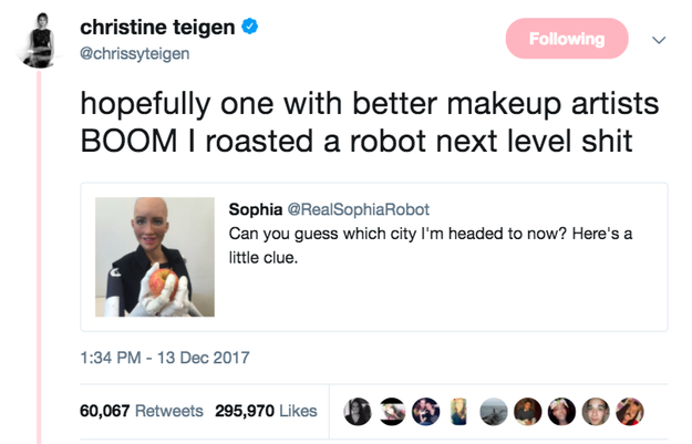 When she roasted a robot: