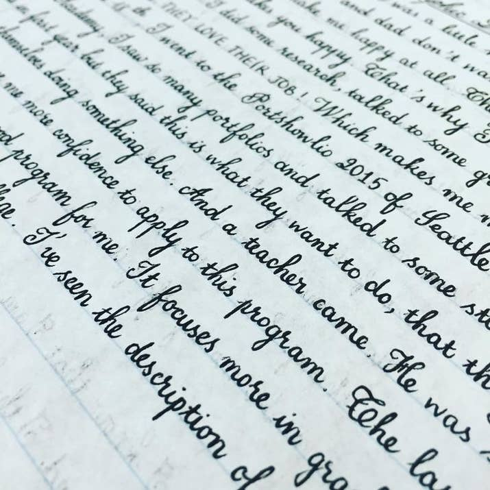 19 people whose handwriting is so good it actually might calm you down 12 no this isnt printed from the computer its written expocarfo
