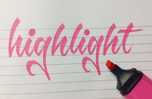 This highlight handwriting is to die for: