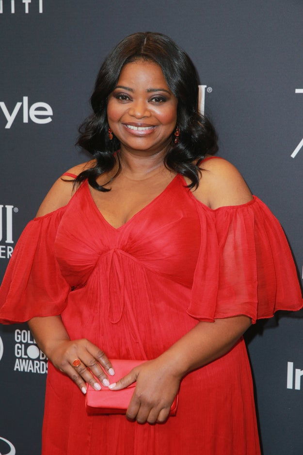 "Oscar-winner Octavia Spencer told reporters ""No designers are coming to me!"" at the Palm Springs International Film Festival gala in 2012, according to Hollywood Reporter. She was nominated for a Golden Globe that following Sunday and still hadn't found a dress."