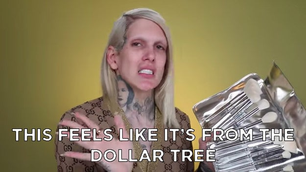 Jeffree Star was definitely not a fan of the brush set and thought the packaging looked cheap.