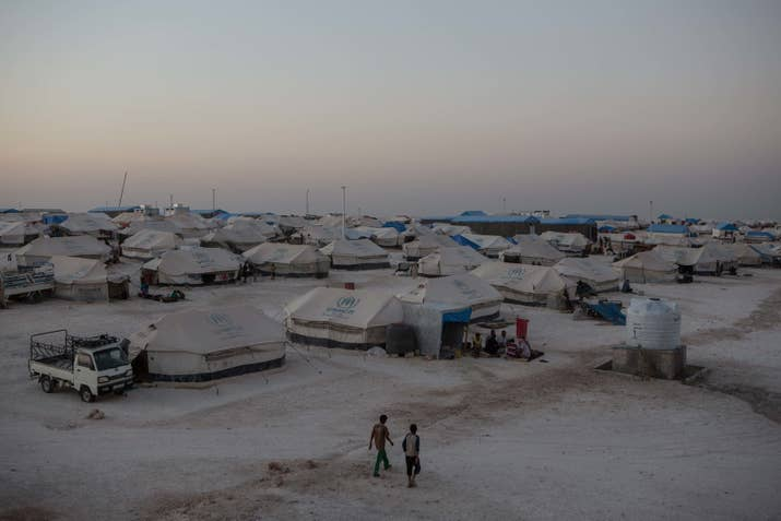 A camp for civilians displaced by the fighting in Raqqa and other former ISIS strongholds.
