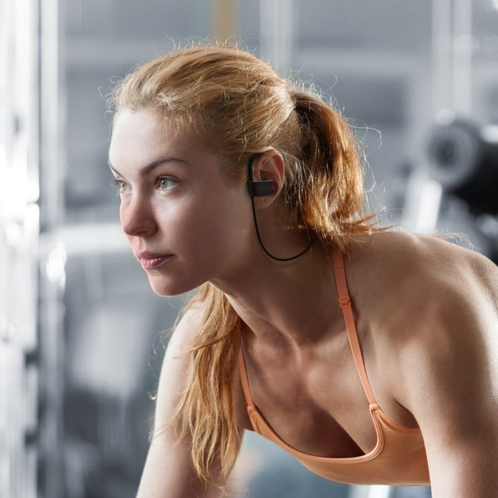 """Promising review: """"These are fantastic. They hold a charge for several days of partial use. They are loud enough without distortion. So far, no damage from sweat or rain. They are very comfortable for everyday use and also feel good while exercising. In terms of BT connection, they are easy to pair and allow me to connect to multiple devices at the same time. The included case allows you to toss them into your bag without worry of them breaking or getting tangled, or just getting gross."""" –WCGet them from Amazon for $26.99 (two colors)."""