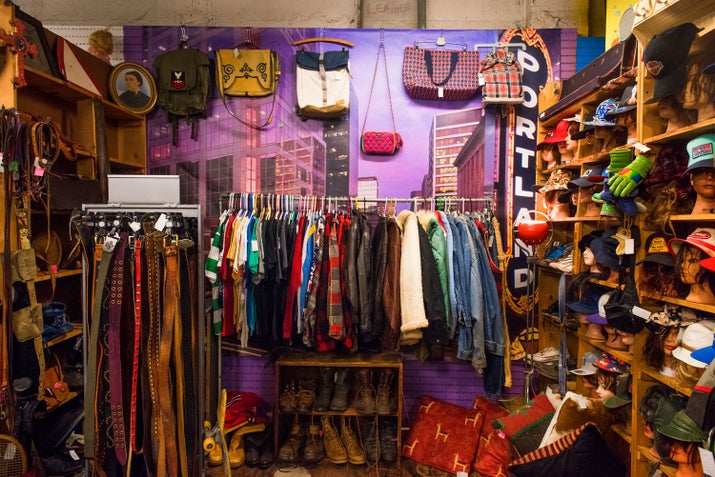 "House of Vintage has an unusual setup, housing the wares of multiple independent vendors. Each vendor pays out the store with a portion of their sales as well as monthly ""rent."""