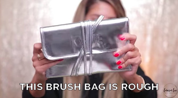 Just like Jeffree Star, Laura Lee thought the brush holder looked like it came from the dollar store.