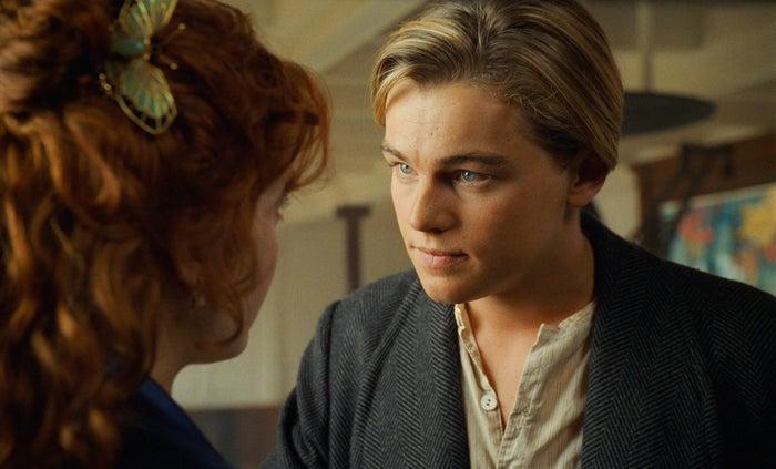 Kate Winslet and Leonardo DiCaprio in Titanic, 1997.