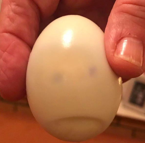 And this very sad egg.
