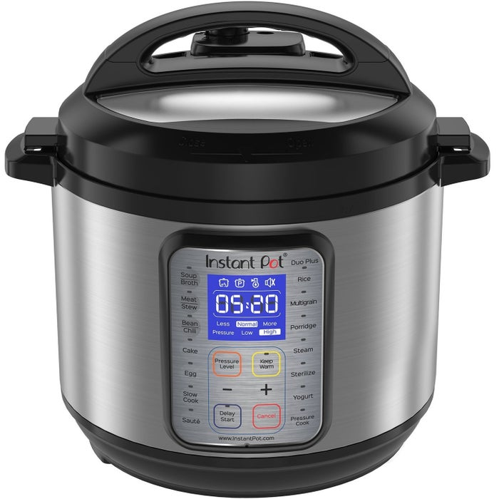 """The Duo Plus replaces nine common kitchen appliances. It can be used as a pressure cooker, slow cooker, rice cooker, yogurt maker, and egg cooker, with the ability to sauté, steam, warm, sterilize... and oh, it makes cakes too. Promising Review: I deliberated about buying one of these for so long (over a year). I regret all of this deliberation, because now that I have it, I'm not sure how I lived without it. Rice turns out perfectly every time. It's amazing. I push a button and walk away and end up with edible rice every single time. I love that this has so many uses in our combined vegetarian/omnivorous household. This Instant Pot produced the only pork dish that my husband has ever liked. I made an amazing vegan curry. I've made soy milk, almond milk, and cashew milk yogurts, and they've all been fantastic. I'll never 'boil' an egg any other way ever again. Eggs turn out perfectly every time and they are so easy to peel. Stop deliberating and buy this now!"""" —LauraGet it from Amazon for $119.95."""