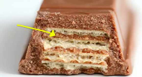 Kit Kats that get damaged during production are crunched up into a Kit Kat paste and given a second life as the inside of future Kit Kats.Learn more: I Just Found Out What's In A Kit Kat Bar And Honestly? It Surprised Me.