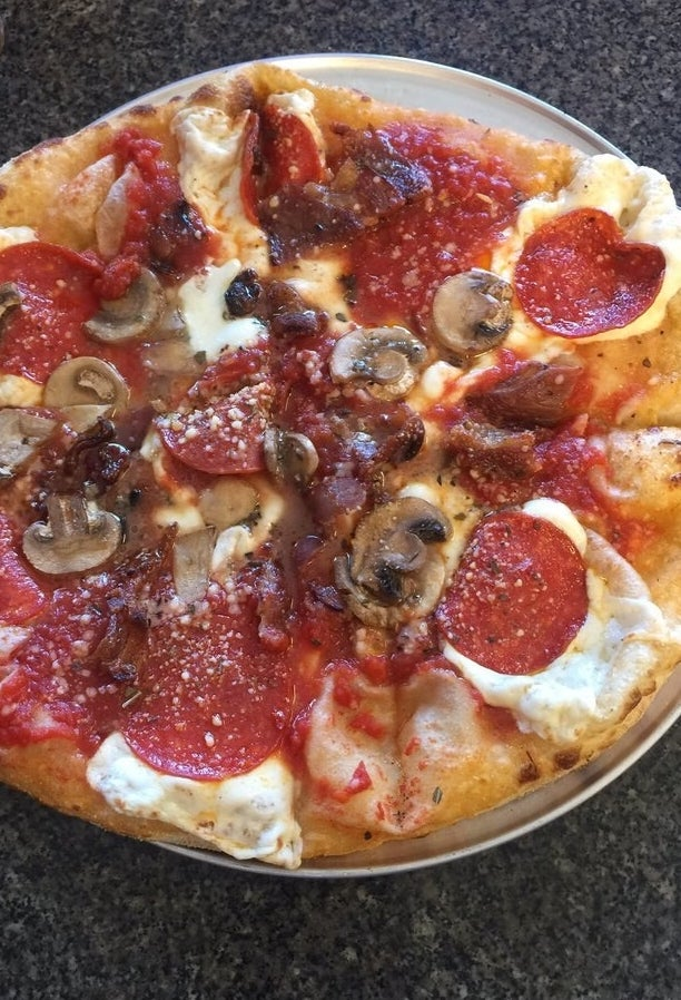 """Best pizza in the county!!! All of the ingredients were extra fresh and the sauce was homemade. Great service and all around a great experience; will be back for sure."" —Yelper Heather W.""Great pizza, fresh ingredients, and really enjoyed the flavor from the wood-fired brick oven. Friendly staff! Finally found a great pizza place to enjoy. We'll be back."" —Yelper Chad D."