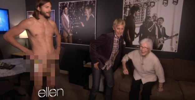 When Ashton Kutcher did this in front of Ellen's mom:
