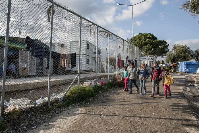 Moria refugee camp in Lesbos, Greece.
