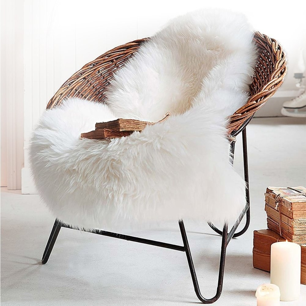 An Uber Fluffy Faux Sheepskin Perfect For Adding A Little Comfiness To Any  Surface In Your House.