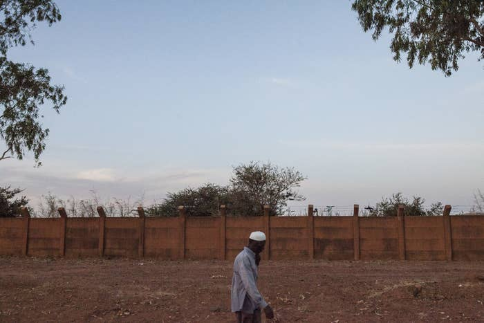A man outside the US drone base in Niamey, Niger, on Nov. 2.