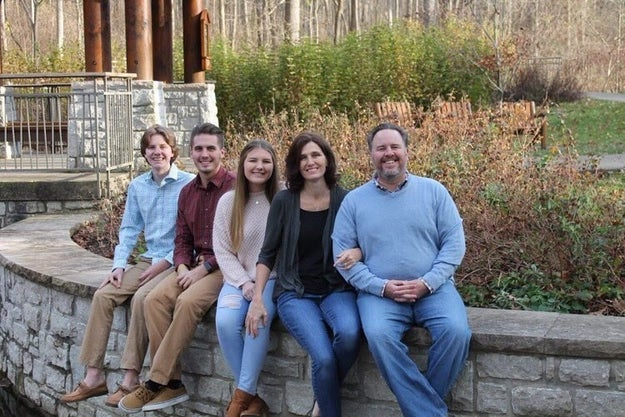 """Meet the Sommers family from Dayton, Ohio. From left to right is Jake, 14, DJ, 19, and Sarah, 17. All three of them went to the same Catholic school and this is Jake's final year. """"I think they'll be happy to have the Sommers family out of that school,"""" their mother, Mary, joked to BuzzFeed News."""