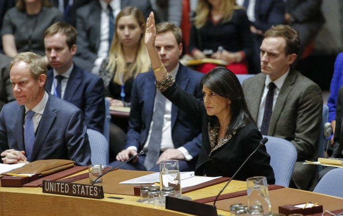 """All 14 other Security Council members, including the other four permanent members —the United Kingdom, China, Russia, and France —and US allies like Japan and Sweden, voted in favor of the resolution. Thanks to a US-led move more than 50 years ago, the General Assembly has the ability to take up issues of matters of international peace and security — normally the Security Council's gig —if there's no agreement between the Council's permanent members. So that's a bit of a """"whoops"""" for the US there."""