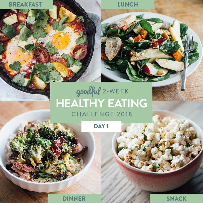 day 1 of the goodful 2 week healthy eating challenge 2018
