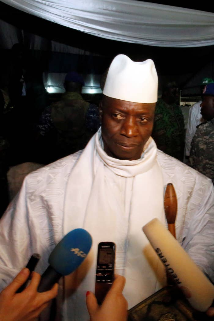 Gambia's former president Yahya Jammeh was among those sanctioned Thursday.