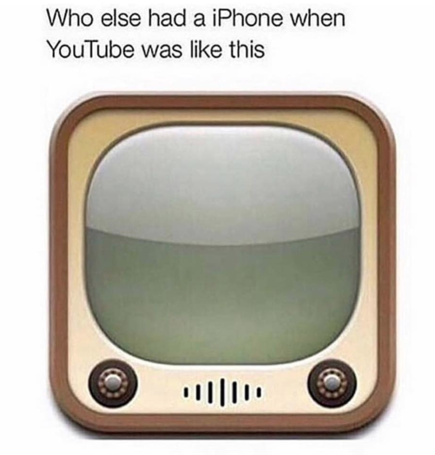 Did you know (or remember) this is what the YouTube app used to look like on iPhones?
