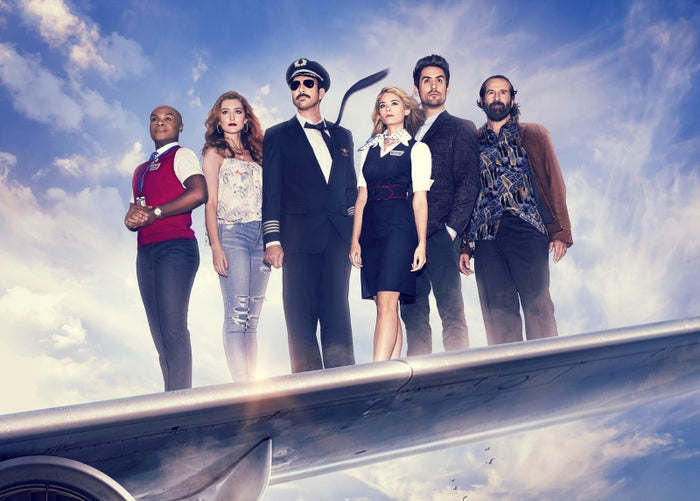 In LA to Vegas, a flight crew and a few regular passengers travel to and from Las Vegas for the weekend. There's the flight attendant searching for a better job (Kim Matula), the ridiculously mustached pilot (Dylan McDermott, playing against type), a crazed gambler who will bet on anything (Peter Stormare), etc. The first episode is funny — and McDermott is very funny, unexpectedly so — but it's not not claustrophobic. For those of us who don't love planes, it may be a challenge! But perhaps worth it. Veteran TV writer Lon Zimmet (Happy Endings, Unbreakable Kimmy Schmidt) is the show's creator.