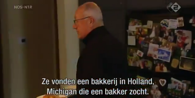 Hoekstra, who is in the process of taking office, did what should have been a routine interview with Dutch public television news program Nieuwsuur — or, News Hour. Here's a shot of Hoekstra with his breakfast: