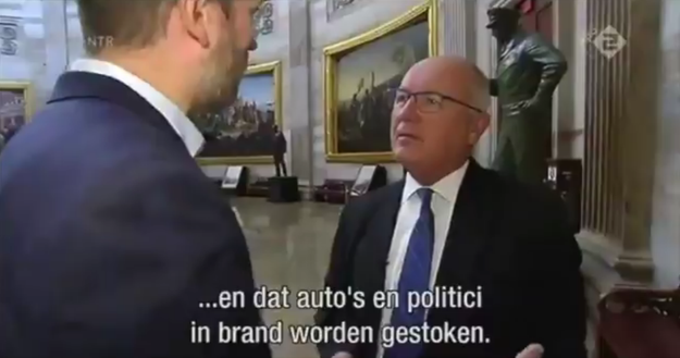 But more than halfway through the interview, the journalist asked Hoekstra about some anti-Muslim comments he made about the Netherlands in the past — and things got real strange, real fast.