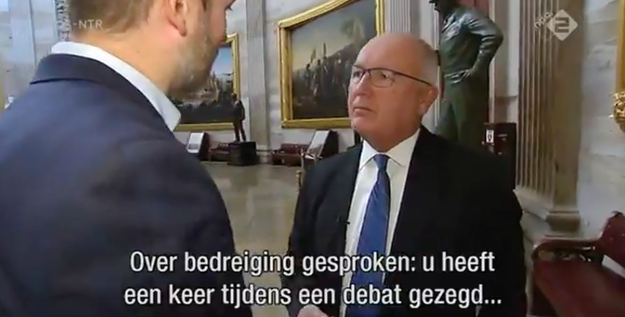 """Speaking of threats,"" the journalist asked, ""at one point you mentioned in a debate that there are no-go zones in the Netherlands and that cars and politicians are being set on fire."""