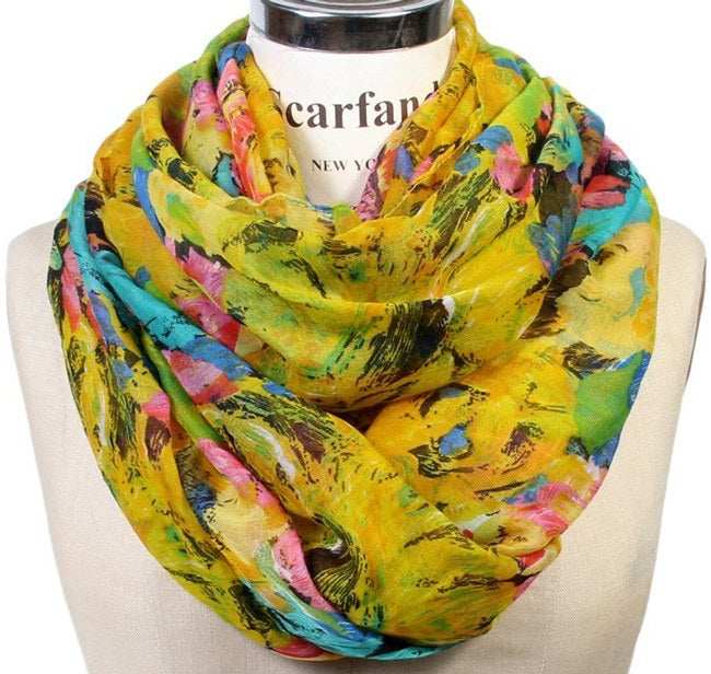 """Promising Review: """"I like this scarf very much. It's very colorful and goes with so many outfits. I like the feel of the scarf and it looks great!"""" —Patti M Price: $11.99 Colors: 15"""