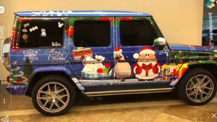 I Just Want To Talk About Justin Beiber's Custom Christmas