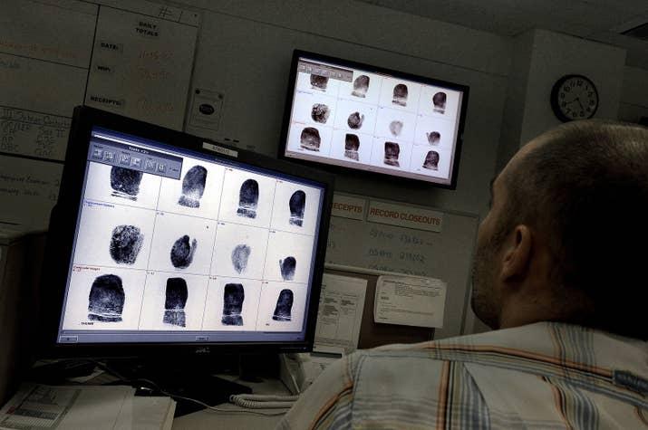 Inside the FBI's background check center.