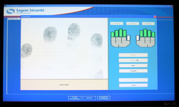 Sagem presented a new biometric passport in 2007.