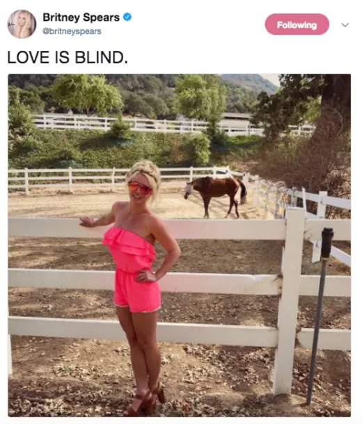 "When she posted a picture next to a horse with the caption ""LOVE IS BLIND"" and everyone was wondering if they were fucking."