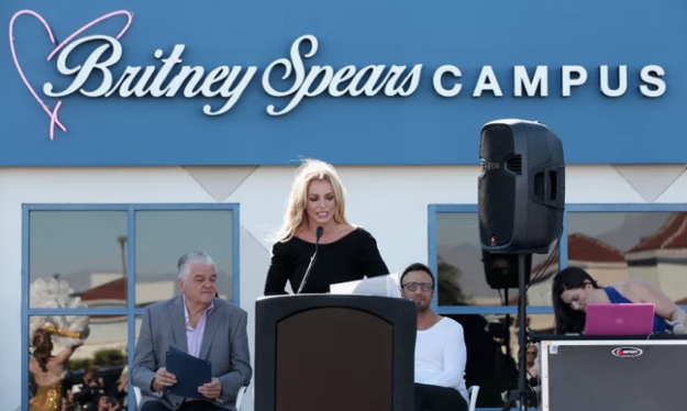 When she opened the Britney Spears Children's Cancer Campus in Las Vegas.