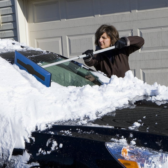 "Promising review: ""I have a Jeep Grand Cherokee and with how much snow we tend to get where I live this is a must. Had one that I kept in my garage to help me clear off my Jeep after a snow storm, but when I am at work I was stuck using my regular snow brush. So I ordered a second one to make it easy for me at work too. This works great, holds up well and makes it so much easier to push the snow off my roof!"" —StevenGet it from Amazon for $10.99 or Walmart for $10.99."