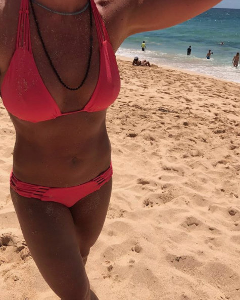 The time she went to Hawaii and wore this pink swimsuit and made me feel worthless and pathetic because I look like a potato and she looks like this.