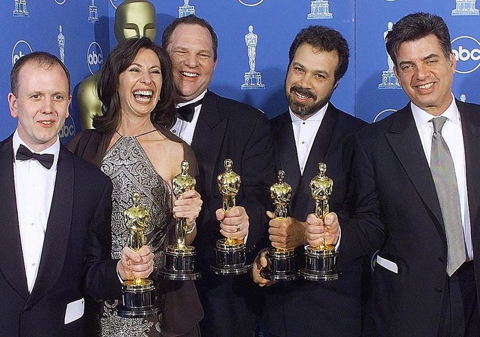 Winning the Best Picture Oscar for Shakespeare in Love in 1999.