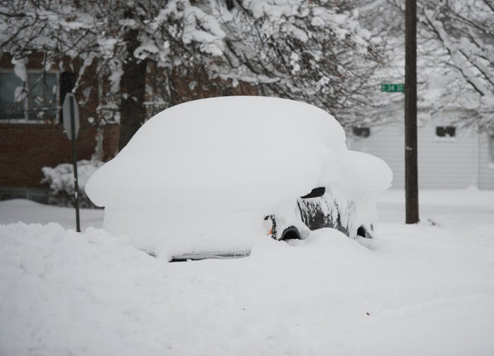 More than 65 inches of snow have fallen on the Great Lakes city in northwestern Pennsylvania since Christmas Eve.