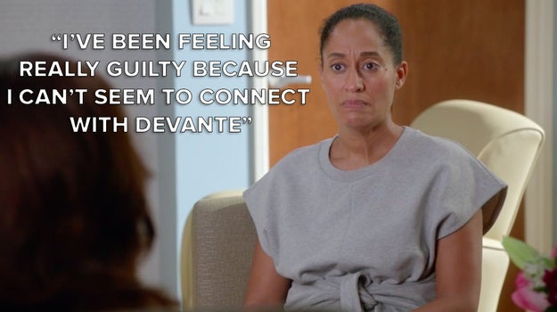 "Rainbow's postpartum depression in the ""Mother Nature"" episode of Black-ish."