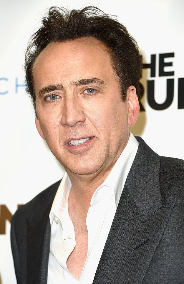 So, we're all familiar with Nicolas Cage, right?