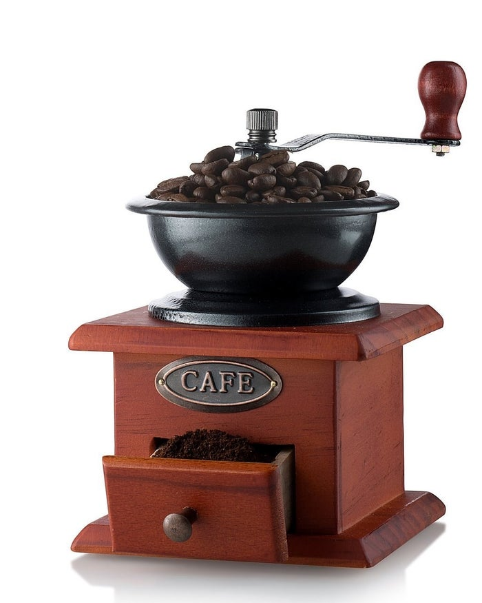 """Promising review: """"I bought this because I thought it would be super cute decor for my kitchen. As a barista I receive coffee samples all the time, I took some home only to realize that they were whole bean and not ground. So I tried this out and it worked incredibly well. I recommend this highly!"""" —Stanzi StonerGet it from Amazon for $14.99."""