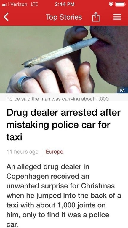 This drug dealer who was a little too under the influence: