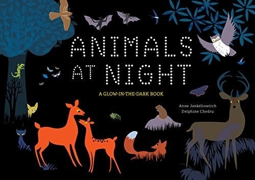 """What kind of trouble do animals get into at night? This 32-page book aims to answer that question.Promising review: """"A survey of a wide variety of nocturnal animals organized by the different ecosystems they inhabit. I was reading an ebook version of this so I couldn't enjoy all the glow-in-the-dark aspects of this tale, but from evidence on the illustrations, I can tell this is a book to read under the covers by the light of a flashlight, so you can switch it off quickly to enjoy the glowing parts and then switch back on to learn all about these nighttime critters. Each illustrated spread provides one interactive question and a paragraph of information on each of the animals highlighted. The science aspects of the animal info was very solid — good enough even for upper elementary and middle schoolers — and this former science teacher even learned a thing or two herself about these critters."""" —Becky B.Get it from Amazon for $13.51, Barnes & Noble for $14.63, or a local bookseller through IndieBound here."""