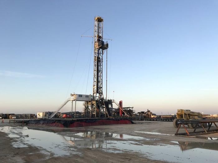 A drilling rig near Midland, Texas.