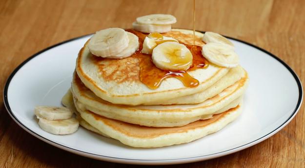 Next up was Ina Garten's recipe for banana sour cream pancakes.
