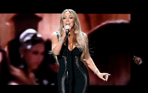 Last week, Mariah Carey performed at the AHF World AIDS Day concert.